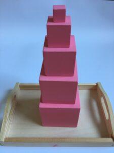 31. Розовая башня (упрощенная) 5 кубиков # Pink tower (lite) 5 dices