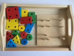 38. Цветные фигурки на колышках#Colored figures on pegs (2)