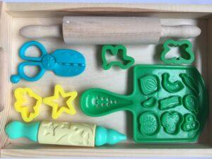 42. Зелёный комплект формочек для пластилина#Green playset for playdough