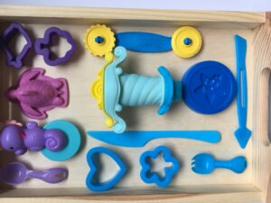 43. Синий комплект формочек для пластилина#Blue playset for playdough