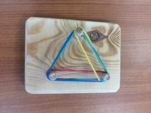 71. Stretching elastic bands in a grid board