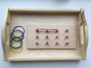 72. Stretching elastic bands in a grid board Big size # Резиночки